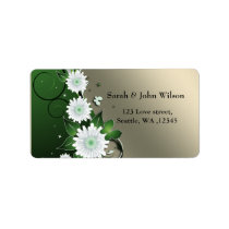 floral butterly ivory green labels