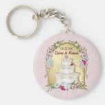 Floral Cake Wedding Key Chains