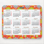 Floral calendar 2014 for the new year mouse pad