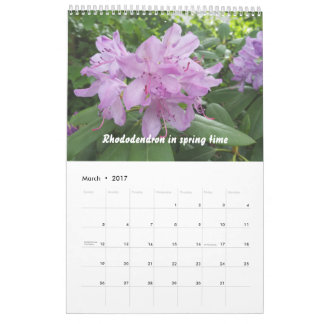 Floral Calendar, flower pictures from nature Calendar