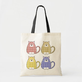Floral Calico Kitty Bag