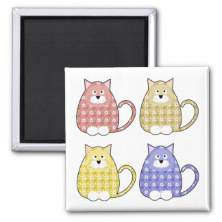 Floral Calico Kitty Magnet