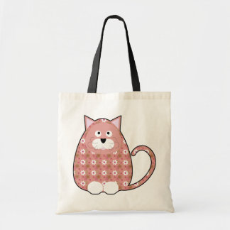 Floral Calico Kitty Pink Bag