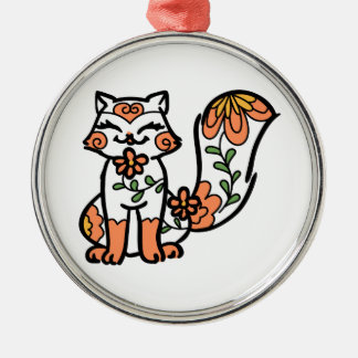 Floral Calico Metal Ornament
