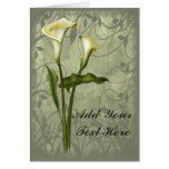 Floral Calla Elegance Greeting Card