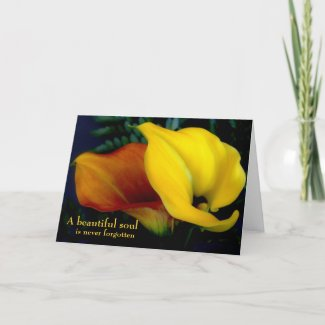 Floral Calla Lily Deepest Sympathy Card