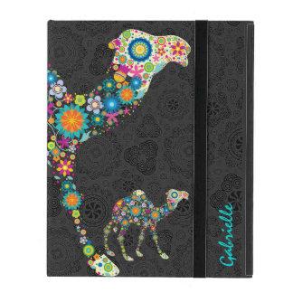 Floral Camel & Black Damasks iPad Case