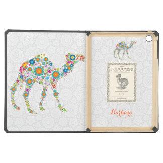 Floral Camel Illustration Case For iPad Air
