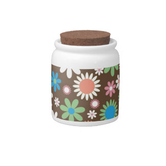 Floral Candy Jars