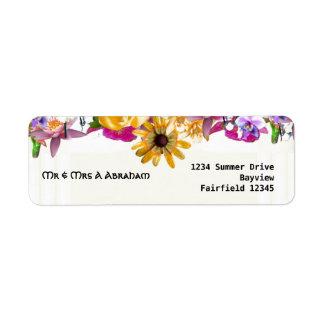 Floral canopy jewish wedding custom return address label