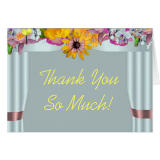 Floral canopy Jewish wedding thank you card