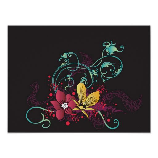 Floral canvas poster