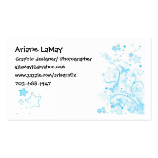 floral card, star & hearts, Ariane LaMay, Graph... Business Card