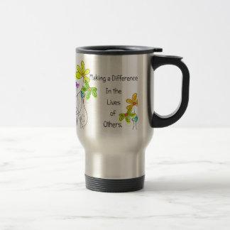 Floral Caregiver Travel Mugs