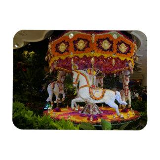 Floral Carousel Wynn Las Vegas Photo Magnet