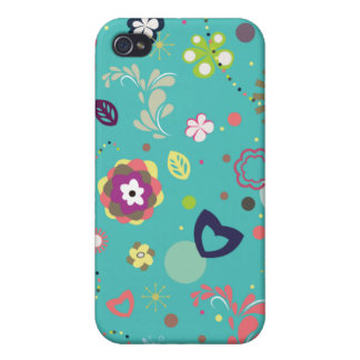 Floral Cartoon iPhone Case Cases For iPhone 4