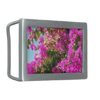 Floral Cascade Rectangular Belt Buckle