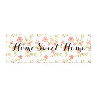 Floral casero dulce casero lienzo envuelto para galerías