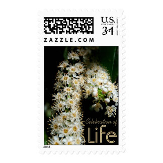 Floral Celebration of Life Postage 1