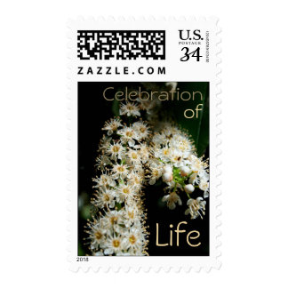 Floral Celebration of Life Postage 2