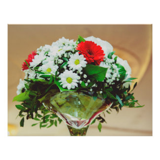 Floral centerpiece flyer design