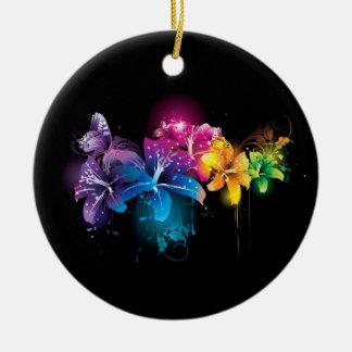 floral ceramic ornament