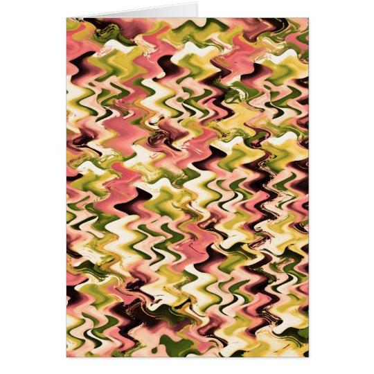 Floral Chakra n Golden Waves Card