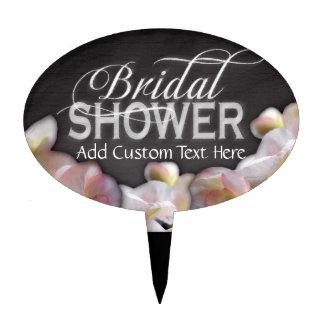 Floral & Chalkboard Bridal Shower Cake Topper