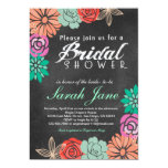 "Floral Chalkboard Bridal Shower invitation 5"" X 7"" Invitation Card"