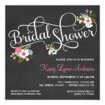 Floral Chalkboard Bridal Shower Invitations