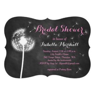Floral Chalkboard Bridal Shower Invite (pink)