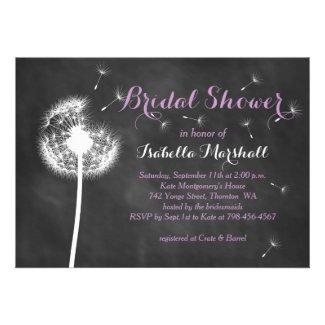 Floral Chalkboard Bridal Shower Invite (purple)