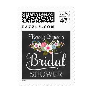 Floral Chalkboard Bridal Shower Postage