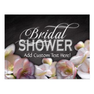 Floral & Chalkboard Bridal Shower Postcard