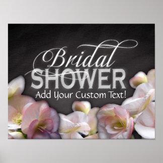 Floral & Chalkboard Bridal Shower Poster