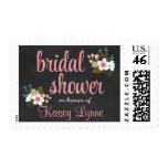Floral Chalkboard Bridal Shower Stamp