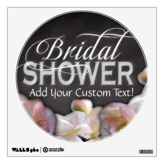 Floral & Chalkboard Bridal Shower Wall Sticker