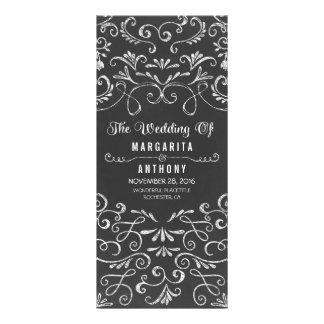 floral chalkboard handwritten wedding program card rack cards