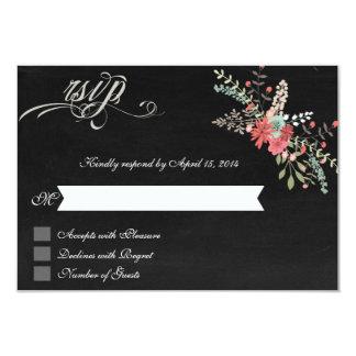 Floral & Chalkboard RSVP Cards