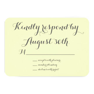 Floral Chalkboard RSVP (yellow) Card