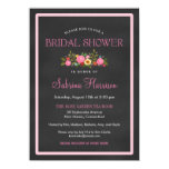 Floral Chalkboard Style Bridal Shower Invitations