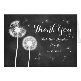 Floral Chalkboard Thank You Card