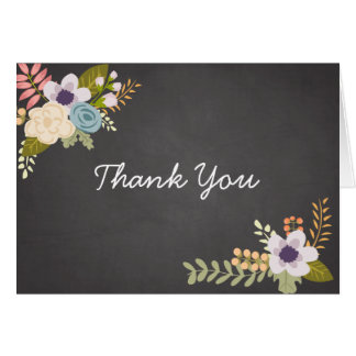 FLORAL CHALKBOARD | THANK YOU NOTE CARD