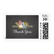 FLORAL CHALKBOARD   THANK YOU POSTAGE