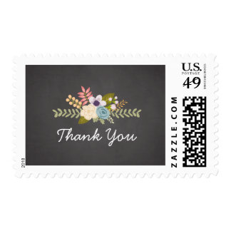 FLORAL CHALKBOARD | THANK YOU POSTAGE