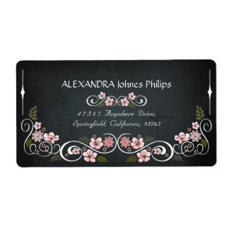 Floral Chalkboard Vintage Bold Address Label