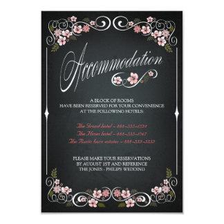 Floral Chalkboard Vintage Wedding Accomodation Card