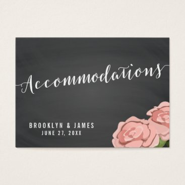 Professional Business Floral Chalkboard Wedding Accommodation Cards