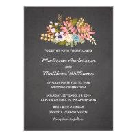 FLORAL CHALKBOARD | WEDDING INVITATION