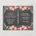 "floral chalkboard wedding program<br><div class=""desc"">wedding program</div>"